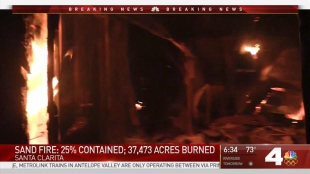 [LA] Sand Fire Contained 25 Percent