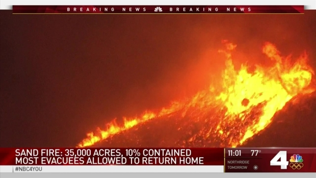 [LA] Most Sand Fire Evacuees Allowed to Return Home