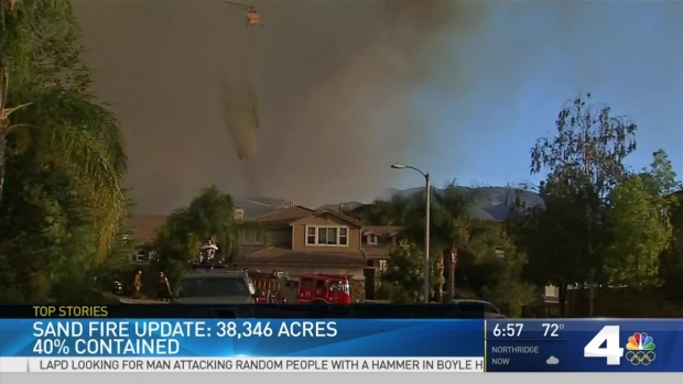 [LA] Sand Fire Grows 38,000 Acres; 40 Percent Contained