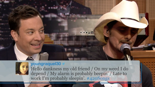 [NATL] 'Tonight': #420Songs Hashtag With Brad Paisley