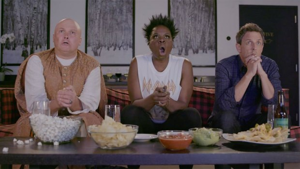 Late Night: Seth Meyers Leslie Jones Watch'GoT With Lord Varys