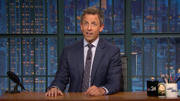 [NATL] 'Late Night': Seth Meyers Checks in With Puerto Rico