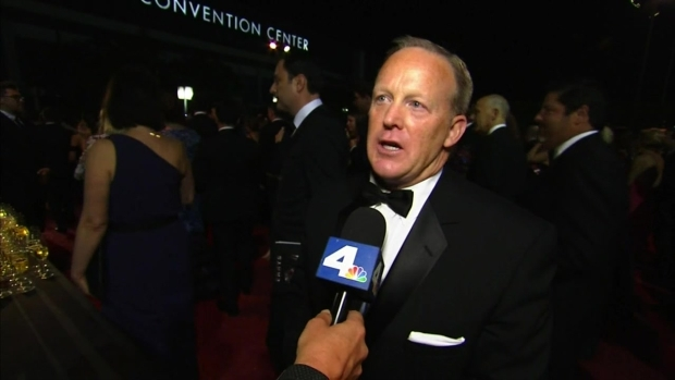 [LA] Sean Spicer Talks Surprise Emmy Cameo