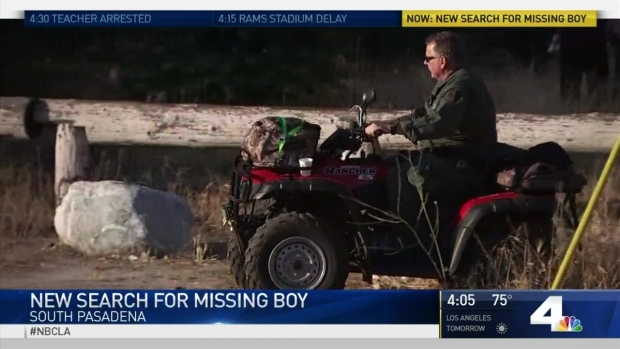 [LA] Search Continues for Missing South Pasadena Boy