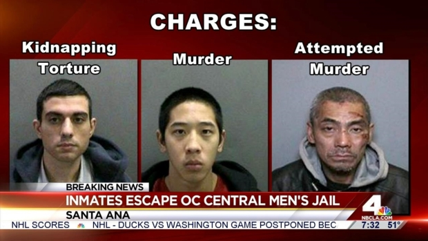 [LA] Search for 3 Inmates Who Escaped from Orange County Jail