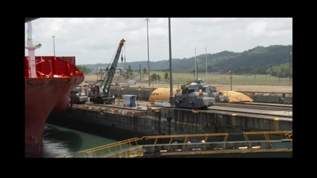 Shuttle Fuel Tank: Rising Waters in Panama Canal