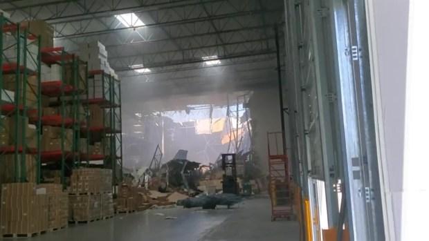 [LA] New Video Shows Damage in Warehouse After Riverside Jet Crash