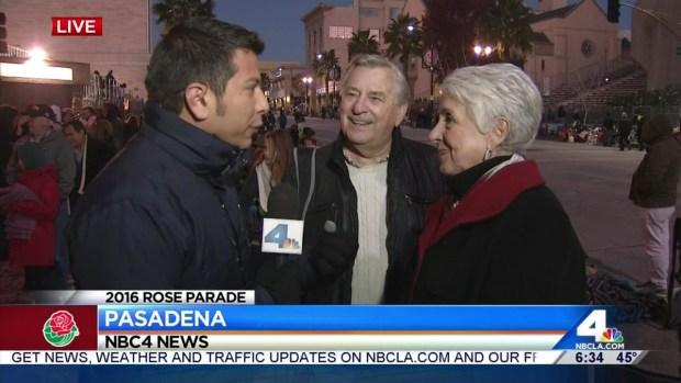 [LA] Spectators Ready to Kick Off 2016 Rose Parade