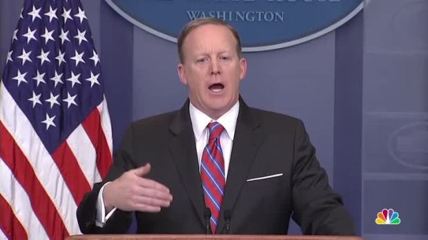 [NATL] Spicer to Reporter: 'Stop Shaking Your Head'