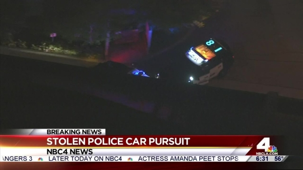 Police Pursuit of Stolen Cruiser Across Los Angeles Ends in
