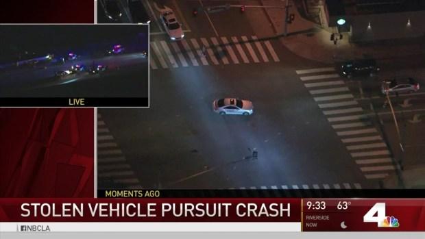 [LA] Stolen Mercedes-Benz Pursuit Ends in Violent Crash