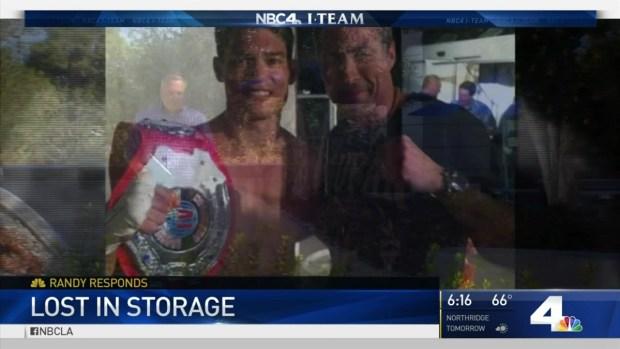 [LA] Storage Company Loses MMA Fighter's Memorabilia