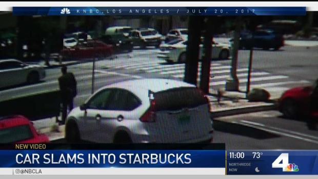 [LA] Surveillance Videos Shows Valley Glen Starbucks Crash