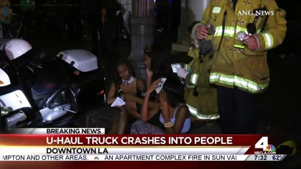 [LA] U-Haul Truck Crashes into Crowd in Downtown LA