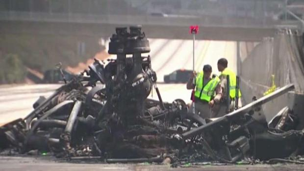 [LA] Tanker Truck Explosion on 105 Freeway Kills Two People