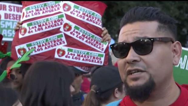 [LA] Teachers Threaten to Strike in Downtown LA Rally