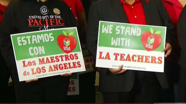 [LA] Teachers' Union Says Strike Going Ahead Monday