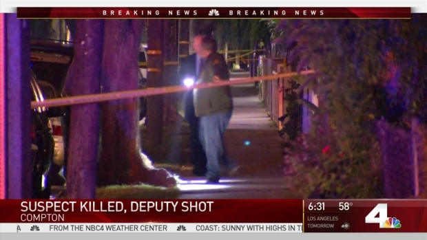 Suspect killed, deputy wounded in LA County shooting