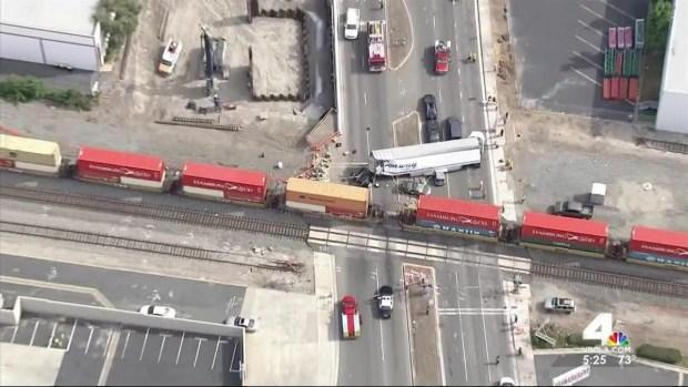 [LA] Train Crashes With Big Rig