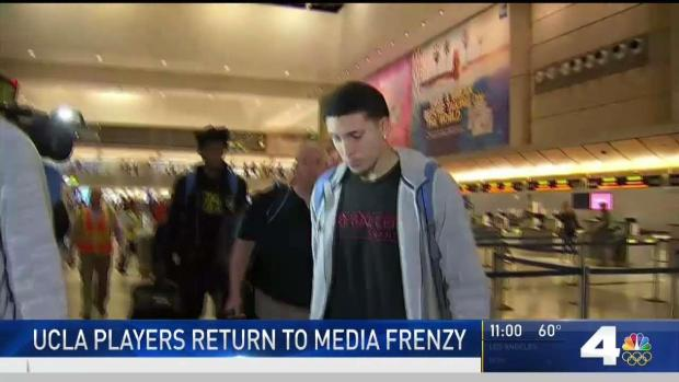 [LA] UCLA Basketball Players Return to Los Angeles After Shoplifting Scandal in China