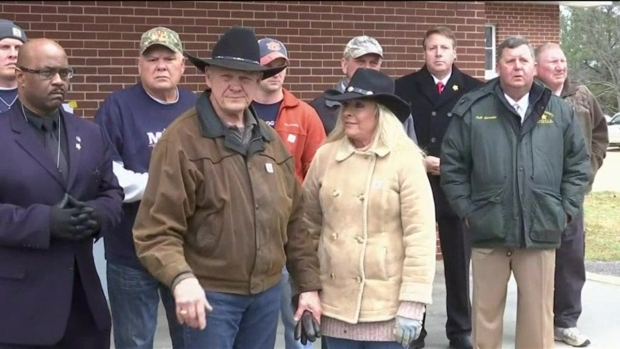 [NATL] A Confident Roy Moore Rides to Vote on Horseback