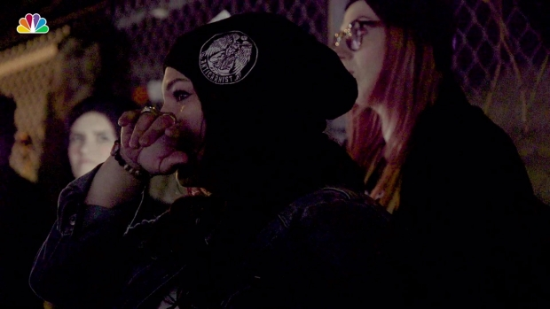 Activists Offer Final Acts of Kindness at Tearful Pig Vigil