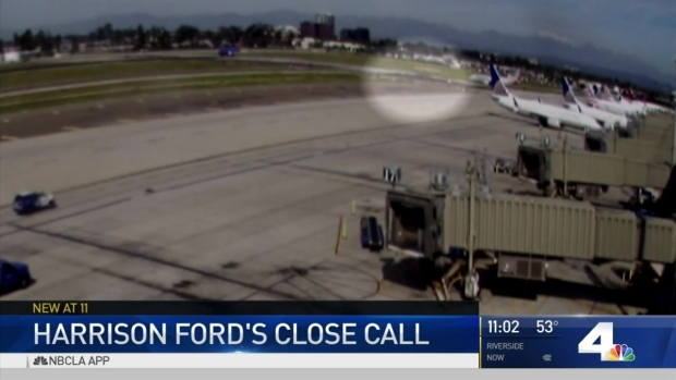 [LA] Video Shows Harrison Ford's Close Call Landing