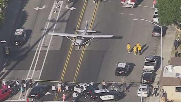 [LA] Video: Pilot Amazingly Lands Small Plane Safely on OC Street