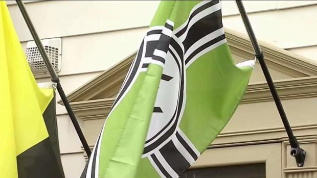 [NATL-DC] Vienna Residents Say Neighbor's Flag is Racist; He Says 'It's Satire'