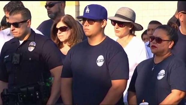 [LA] Vigil Honors LAPD Deputy Killed in Lincoln Heights