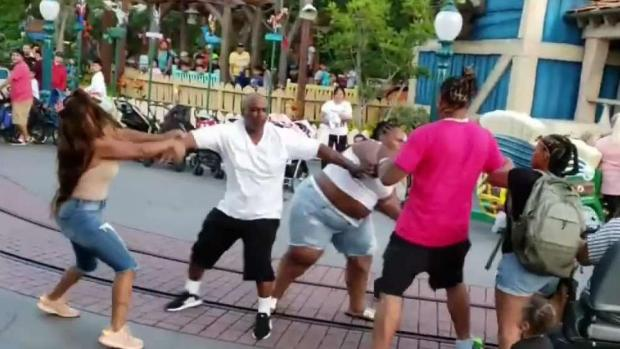 [LA ONLY] Violent Family Brawl Erupts at Disneyland