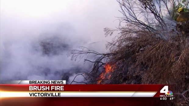 [LA] Brush Fire Breaks Out in Apple Valley