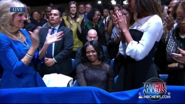 """[NATL-CHI] """"Maybe you still can't believe we pulled this whole thing off"""": The first lady's standing ovation"""