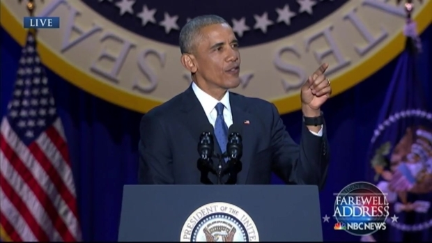 [NATL-CHI] Obama Thanks 'Brother' Biden in Farewell Address