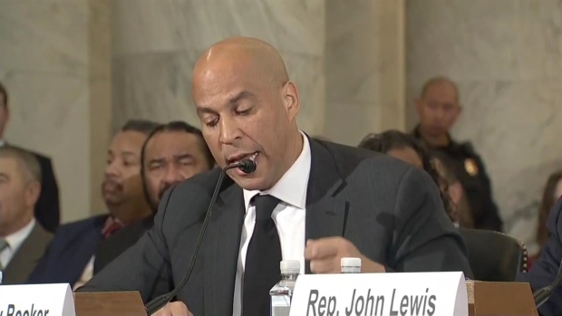 Booker Testifies Against Sessions at Confirmation Hearing