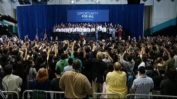 [MI] President Barack Obama Speaks at Coral Reef Senior High School