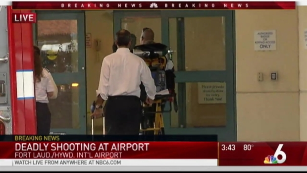 [NATL-MI] RAW Patient Being Taken to Hospital After FTL Airport Shooting