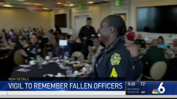 [NATL-MI] Vigil Held For Slain Orlando Police Sergeant