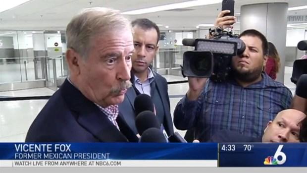 [NATL-MI] Former Mexican President Drops 'F' Bomb About Trump Wall in Miami