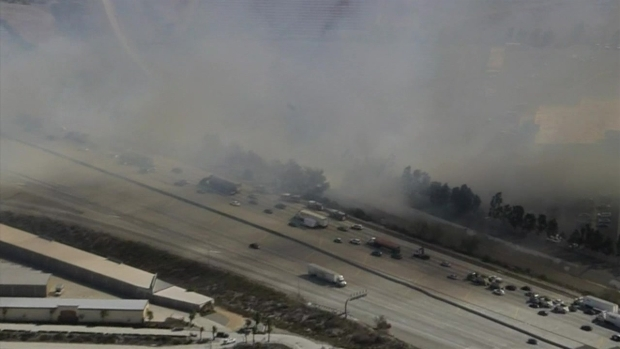 [LA] Watch: Brush Fires Burn Along 210 Freeway