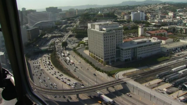 WEB EXTRA: LAPD Choppers Assist in Safety