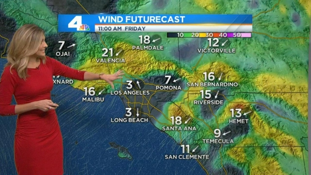 [LA] AM Forecast: Warm, Windy