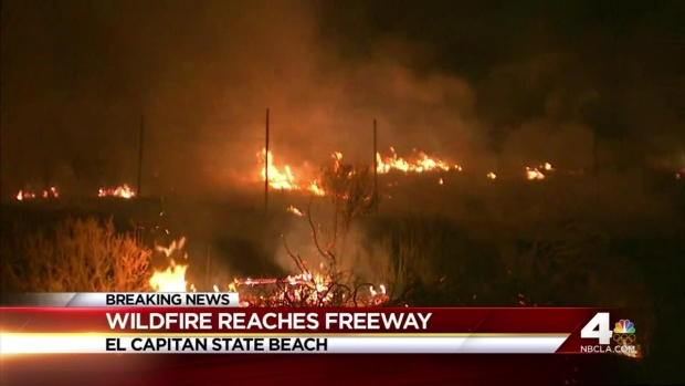 [LA] Wildfire Reaches Freeway
