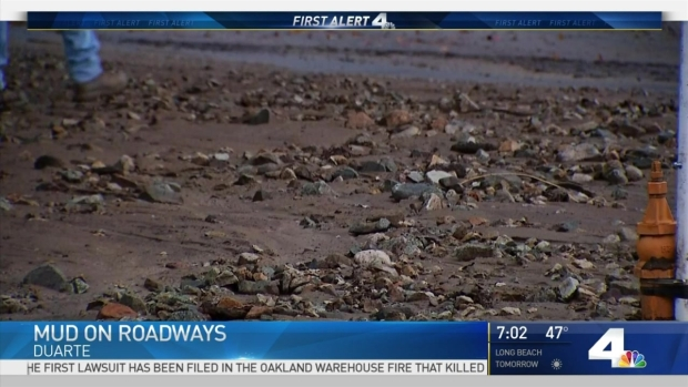[LA] Winter Storm Triggers Mudflows in Duarte