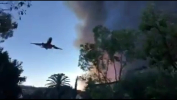 [LA] Fire Retardant Air Drop in Westlake Village