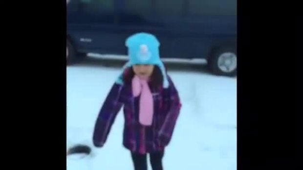 Bella Skating Outside