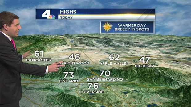 [LA] AM Weather: High Clouds, Increasing Santa Anas