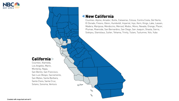 New California Declares Independence Hopes To Become St State - California counties