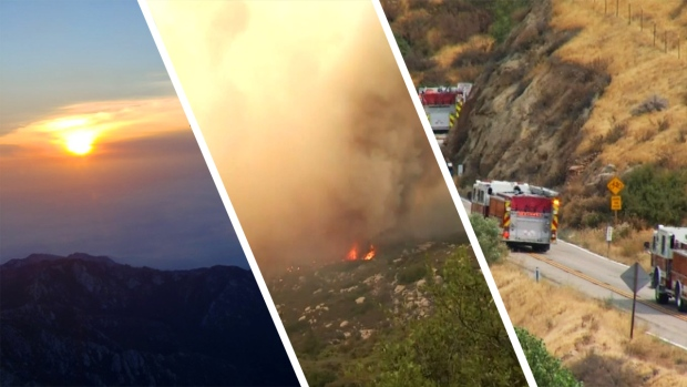 Photos: Wildfire Tears Through Riverside County Mountains