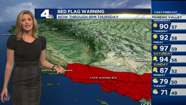 [LA] AM Forecast: Hot, Dry and Windy